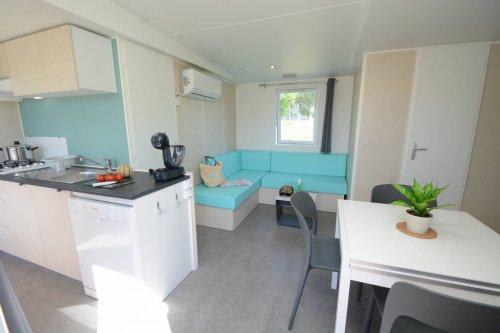 Mobil home modele 1 coin cusine et séjour location